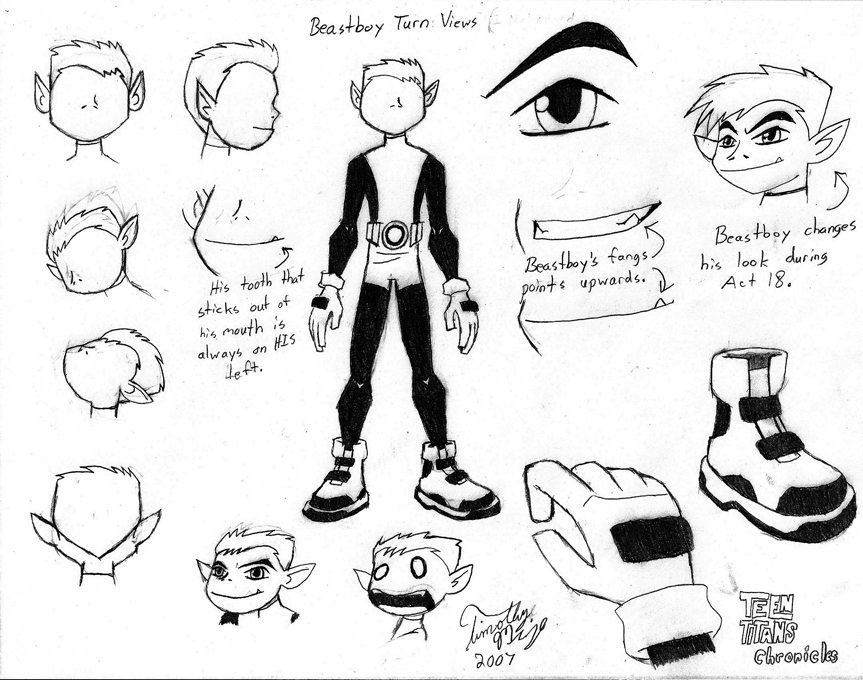how to draw raven and beast boy