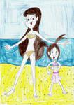(Art Trade) Olivia and Tina Beach Dance
