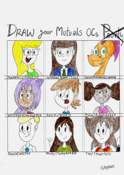 Draw Your Mutuals OCs #1
