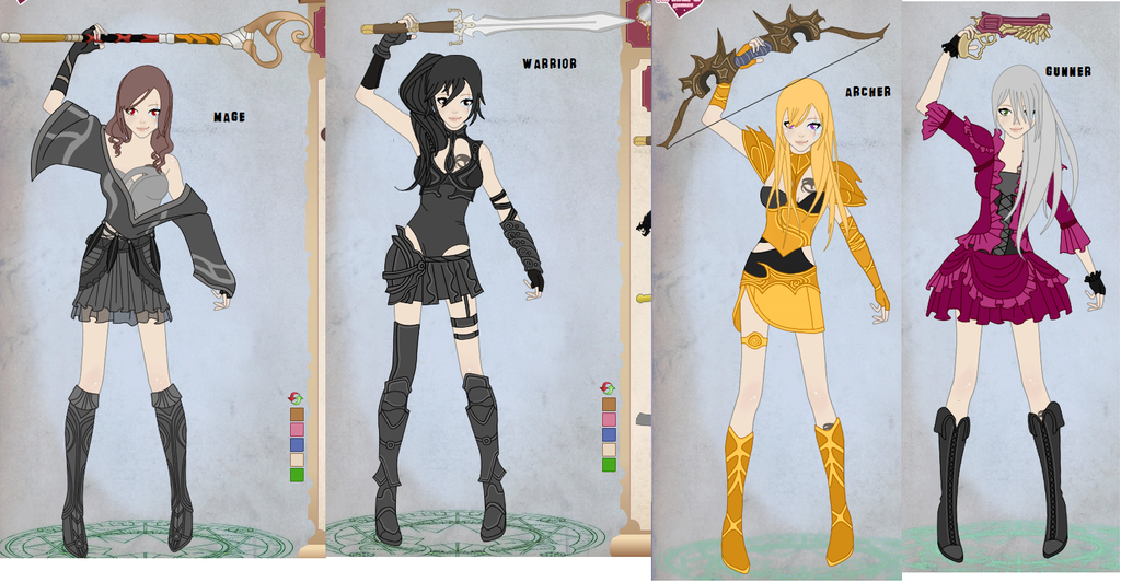 Video game avatar dress up game by kittykat532 on deviantart