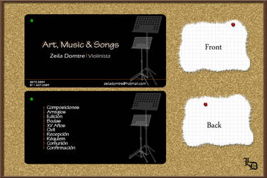 Domtre's business card by pualanika