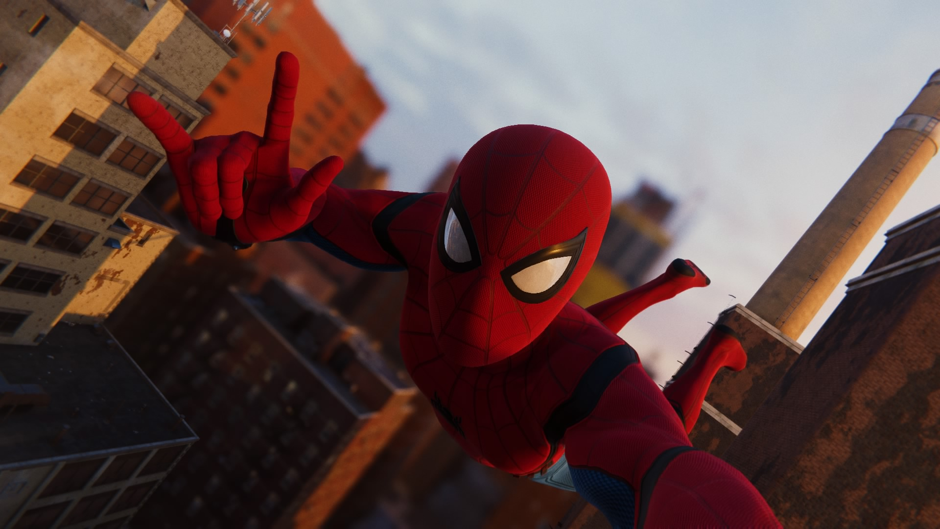 30+ Spiderman Ps4 Selfie Wallpaper Background