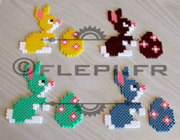 lapins et oeufs by flepi