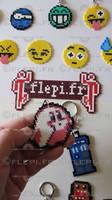 Kirby ghost keychain by flepi