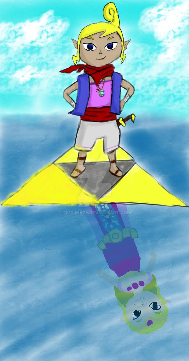Tetra, Wielder of the Triforce of Wisdom by tsvlink25