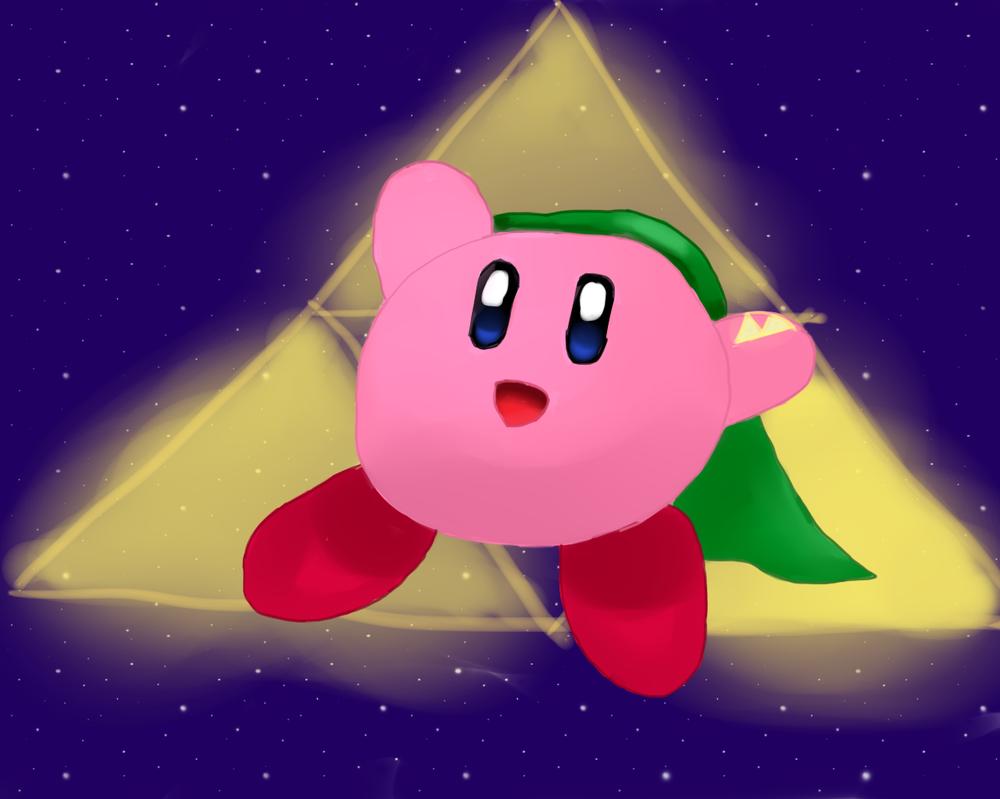 Kirby, the Hero of Hyrule by tsvlink25