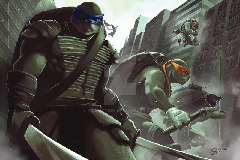 Ninja Turtles 1 Fan art by fujimotion