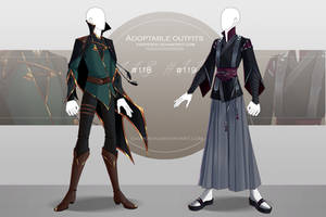 [CLOSED-Auction] Adoptable outfit #118-119 by Eggperon