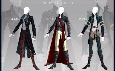 [CLOSED-Auction] Adoptable outfit #142-144