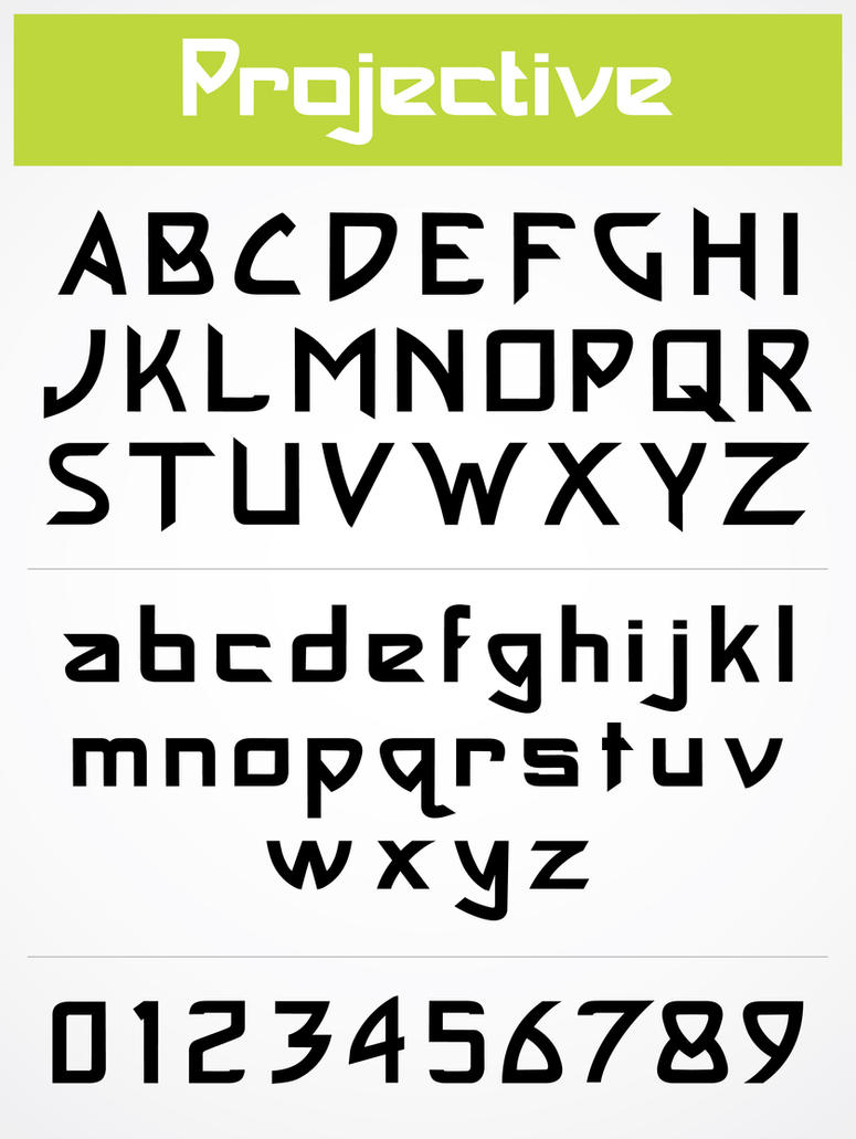 projective font by NickDart