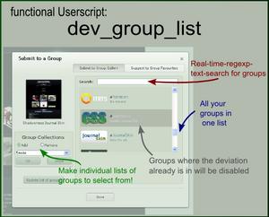 Dev Group List