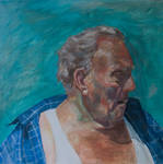Old Man of Blackpool in Oils