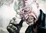 Miner. Watercolour
