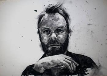 Matt Berninger Charcoal Portrait by StefanRess