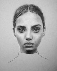 Inka Williams Charcoal Portrait