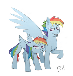 Rainbow Dash + Rainbow Blitz by Bypenandhoof