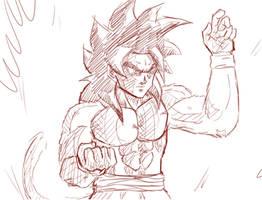 Ssj4 Goku / SKETCH by ChibiBardock