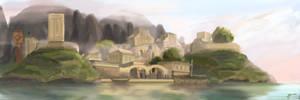 Morrowind. Suran on lake Masobi. by VorinEpo