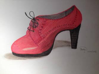 The red shoe by LightningPika