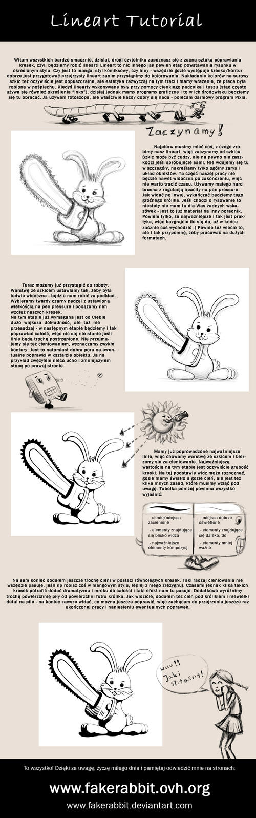 Line Art Tutorial Photo : Lineart tutorial by fakerabbit on deviantart