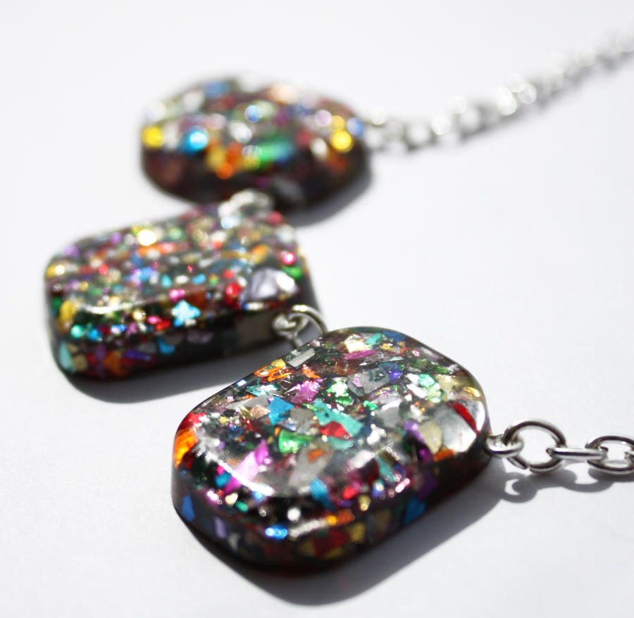 Glitter sparkle necklace by BazaarHereToday