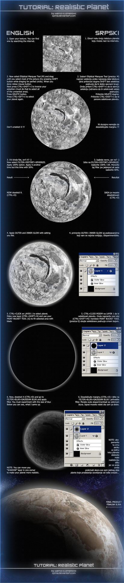 Realistic Planet Tutorial by Qzma