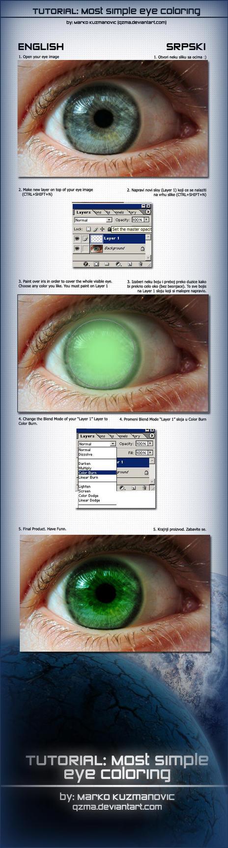 Simple Eye Coloring Tutorial by Qzma