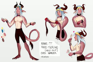 DnD Tiefling by prayforelves