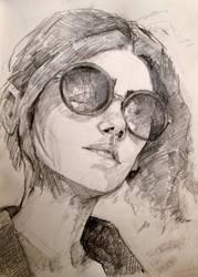 Self-portrait homework by prayforelves