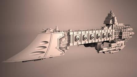 Warhammer 40k - Dauntless Cruiser WIP by DonDelita