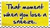 Losing a sneeze..