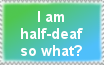 half-deaf stamp by Valenciaaa