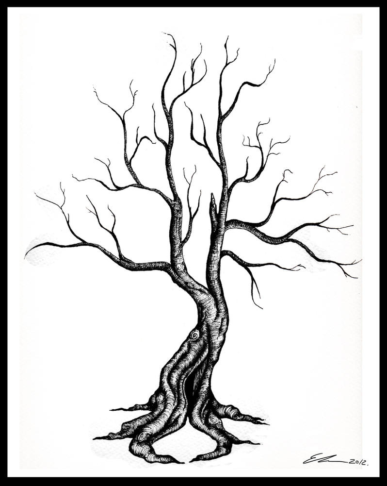 Dead tree tattoo by ellestril on deviantart for Death tree tattoo