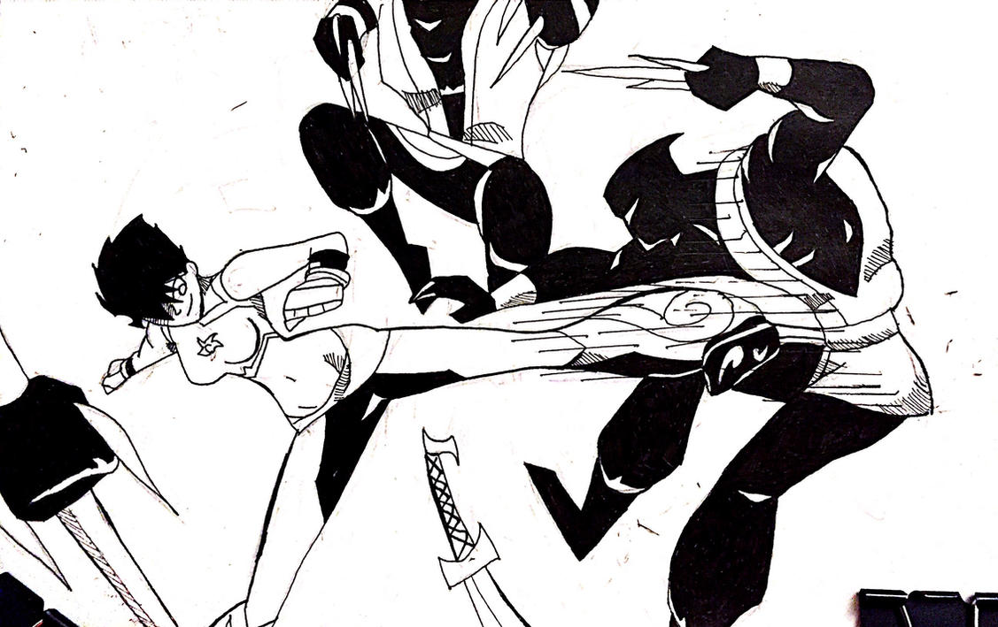 intober 2016 fight scene 2 by EPICamiture2099