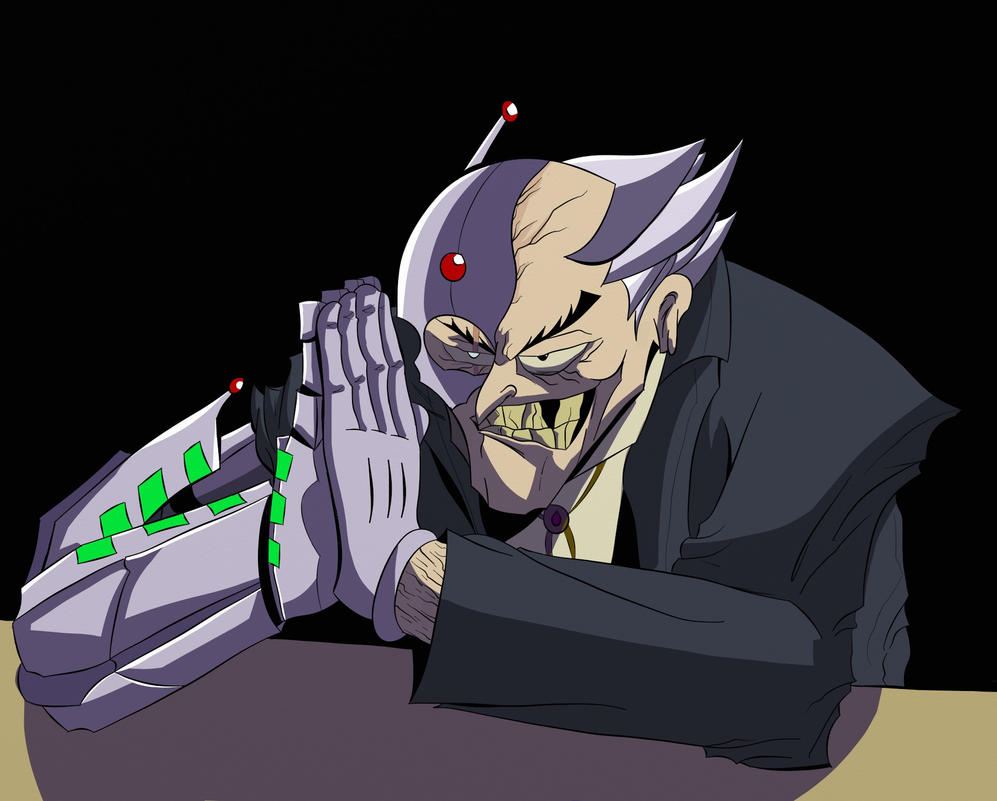old cyborg creeper man by EPICamiture2099