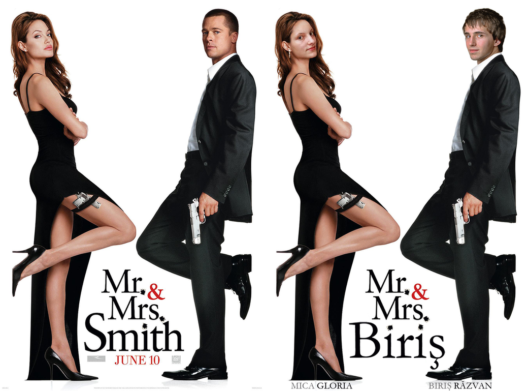 Mr And Mrs Smith Cake Topper