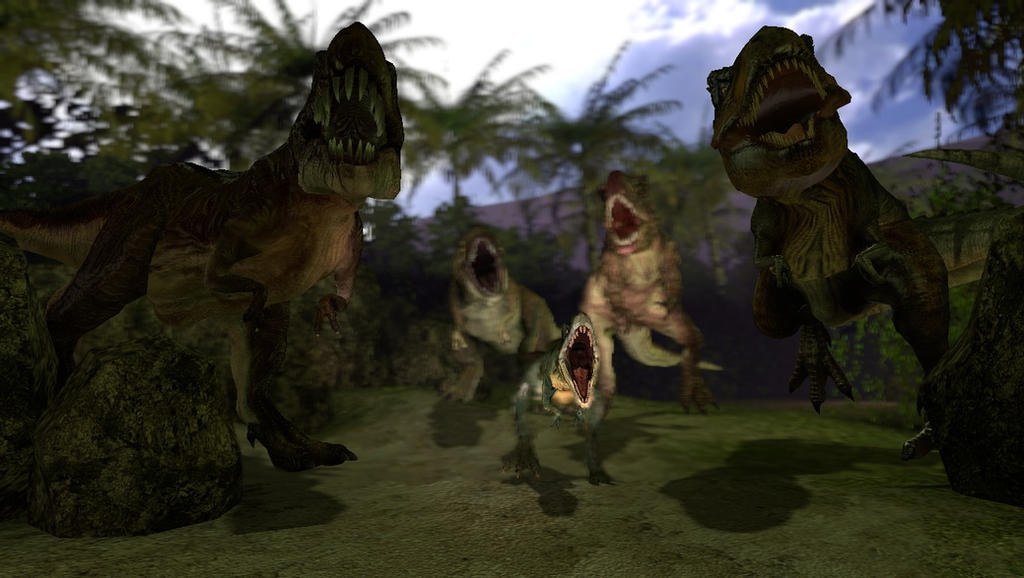 Gmod dino island 1 t rex family 1 by delta 28 on for T rex family