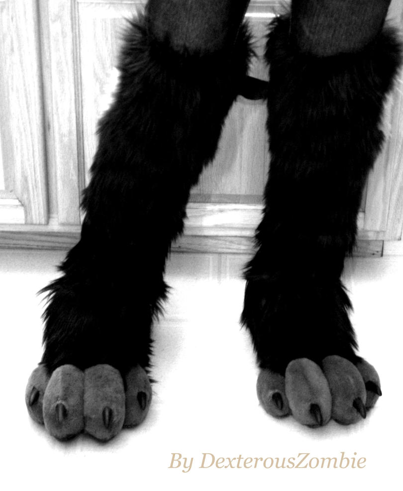 Black Cat Paws Cosplay Costume