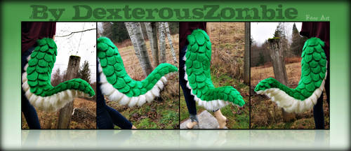 Green Reptile Tail - Commission by DexterousZombie