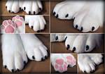 White Cozy Paws
