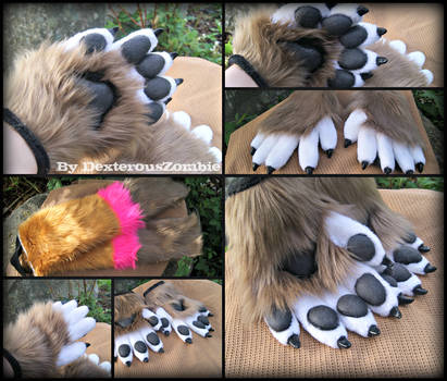 Caylen Handpaws and armsleeves commission