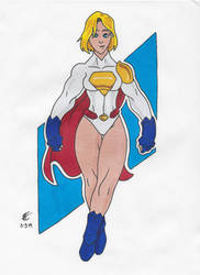 Power Girl Redesign by tiemannick-art