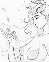 [Mishu] [Sketch] Marine Goddess by BlackBriotStudios