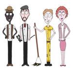 Joey Drew Studios Employees Lineup3 by TimBurton01