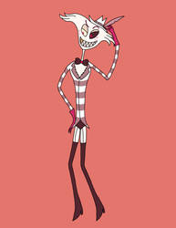 Hazbin Hotel Angel Dust Redesign by TimBurton01