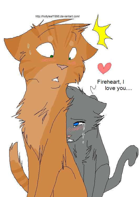 Fireheart and Cinderpelt-paw by NonsensicalLogicFireheart And Cinderpaw