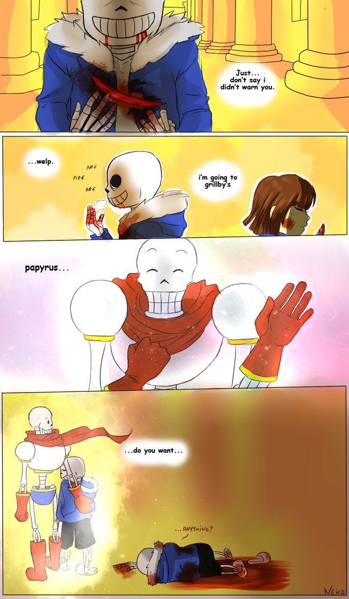 Sans After Fight by NekoBlackCat