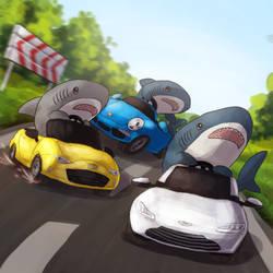Shark Race by Krisantyne