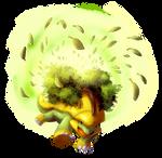Grotle used Leaf Storm!
