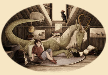 There's a Dragon in the Attic by brightredrose